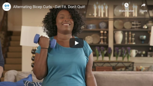 Alternating bicep curls for your arms