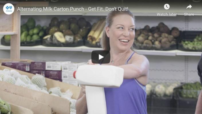 Alternating milk carton punch