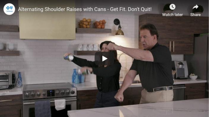 Alternating shoulder raises