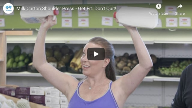 Milk carton shoulder press