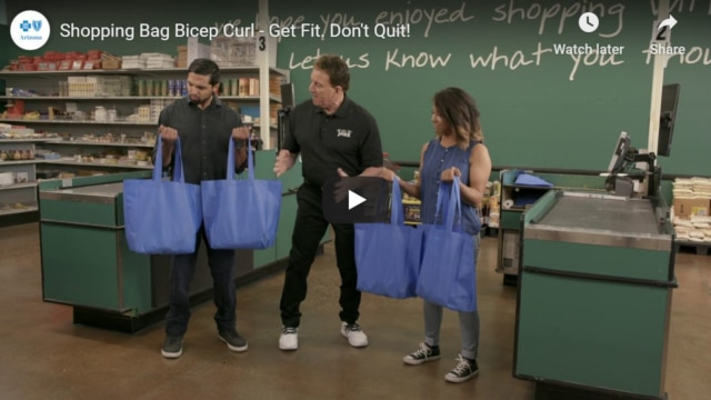 Shopping Bag Bicep Curls