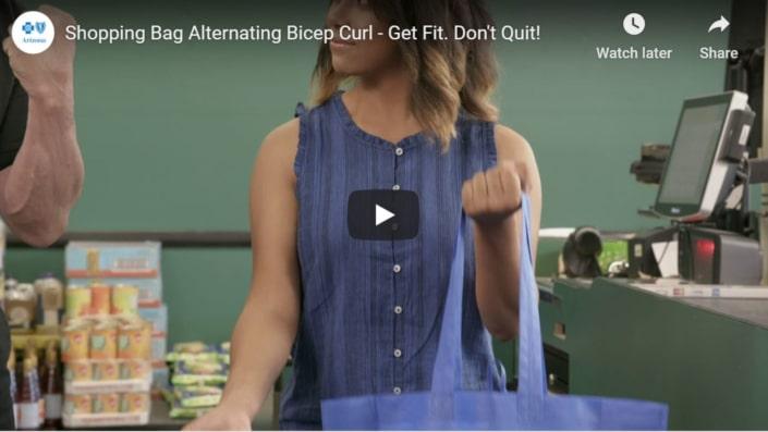 Shoppping back alternating bicep curl
