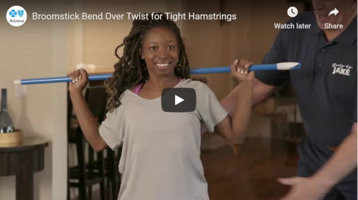 Broomstick Bend Over Twist for Tight Hamstrings