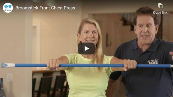 Broomstick Chest Press