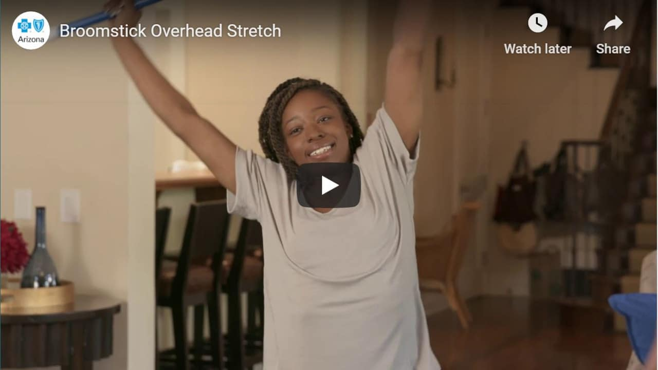 Broomstick Overhead Stretch