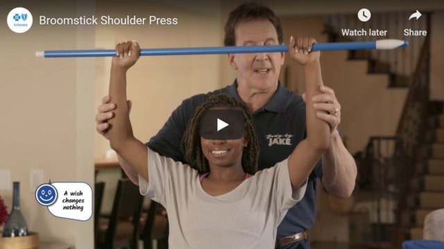 Broomstick Shoulder Press