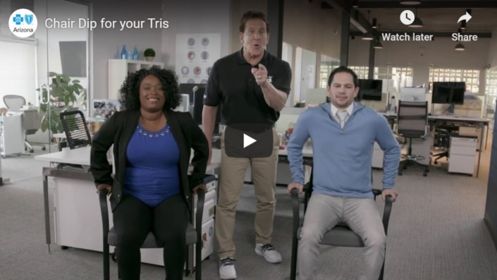 Chair Dips for your Tris