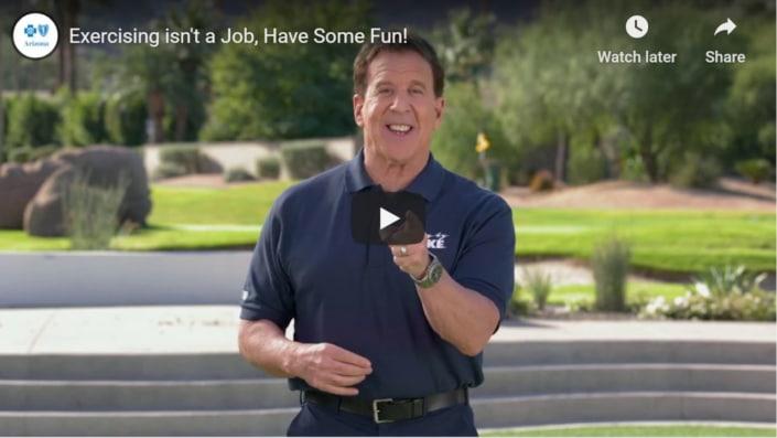 Exercising isn't a job