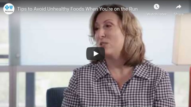Tips to avoid unhealthy foods