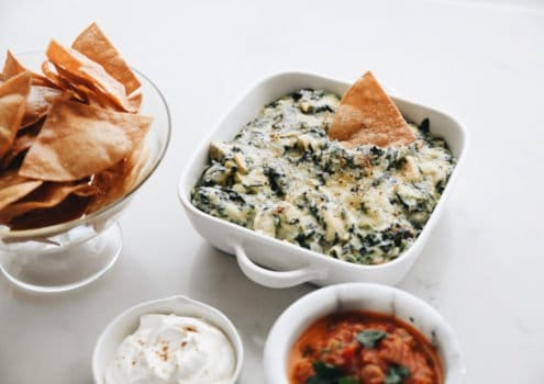 High Protein Spinach Dip